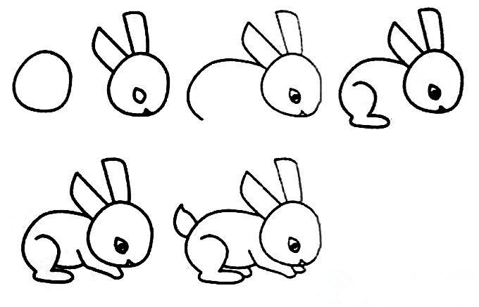 简单的小兔子怎么画兔子简笔画图片大全兔子简笔画步骤 厦门市培训机构